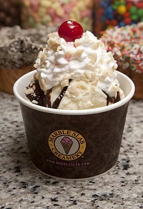 Marble Slab:  Creamery...