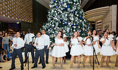 Christmas tree lighting at InterContinental Dubai Festival City