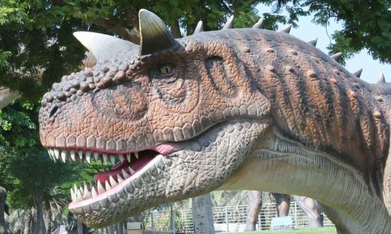 Dubai Garden Glow dinosaurs