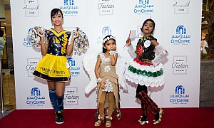 """Trashion"" stars on the catwalk at Mirdif Fashion Weekend"